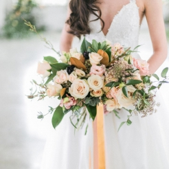 Bride Holding Bouquet - Sunset Ranch